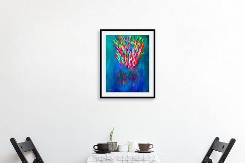 תמונה לפינת אוכל - אורית גפני - מפץ צבעוני - מק''ט: 332424