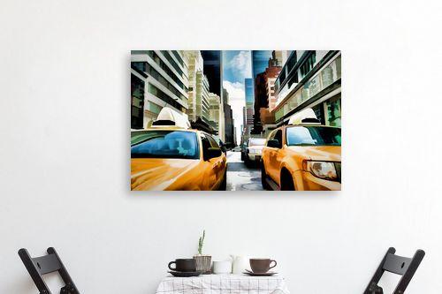 תמונה לפינת אוכל - Artpicked - yellow cab - מק''ט: 333008