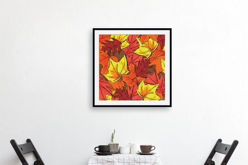 תמונה לפינת אוכל - חנן אביסף - Brown Autumn Leaves - מק''ט: 52181