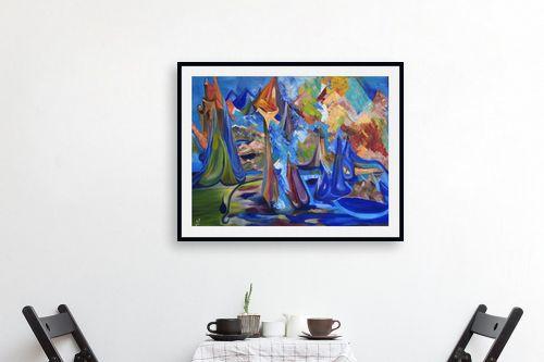 תמונה לפינת אוכל - רינה יניב - the blue kingdom - מק''ט: 74397