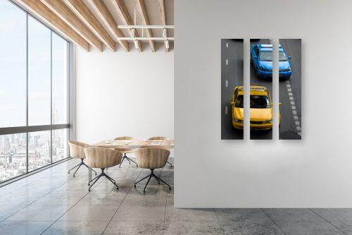 תמונה למשרד - ניר אלון - כחול וצהוב - מק''ט: 129181