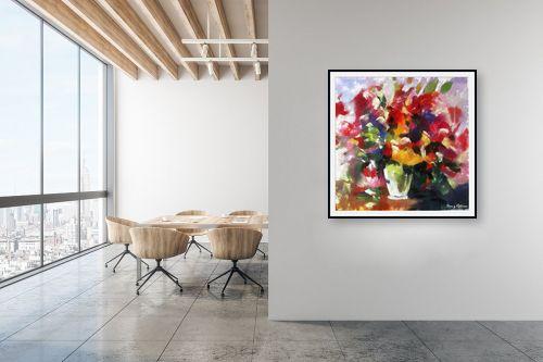 תמונה למשרד - בן רוטמן - ציורי פרחים - והרבה - מק''ט: 144910