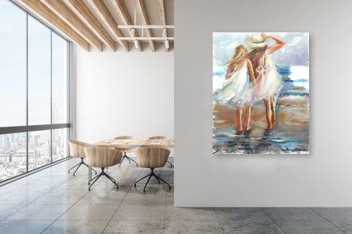 תמונה למשרד - בן רוטמן - ילדות בחוף תל אביב - מק''ט: 150737