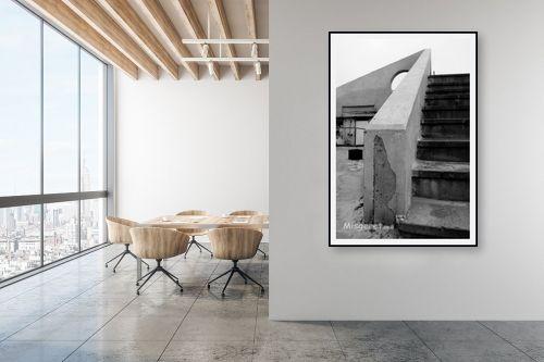 תמונה למשרד - ניר אלון - מדרגות וחצי עיגול - מק''ט: 1533