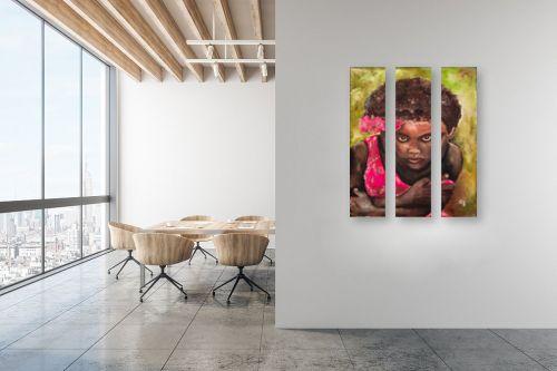 תמונה למשרד - שולי חיימזון - ילדה אתיופית - מק''ט: 158450