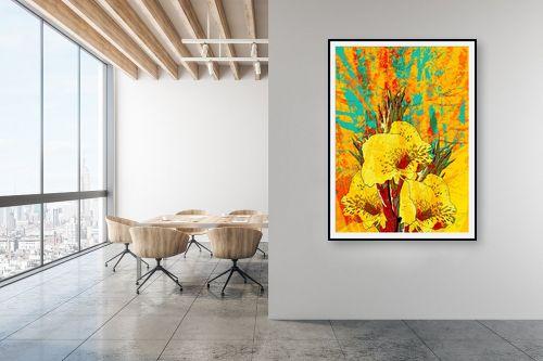תמונה למשרד - רוזה לשצ'ינסקי - פרח צהוב - מק''ט: 203681