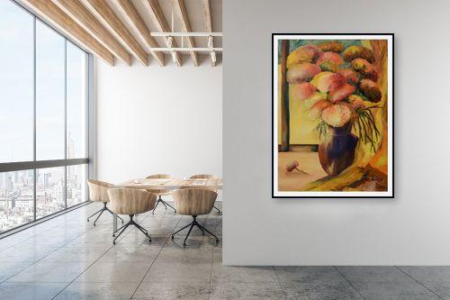 תמונה למשרד - שרה וולקוב - אגרטל פרחים - מק''ט: 236285