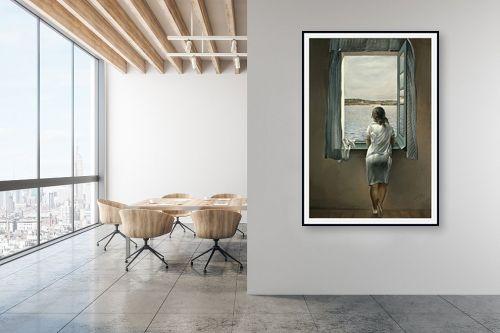 תמונה למשרד - סלבדור דאלי - Woman at the window - מק''ט: 240078