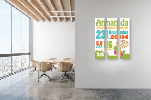 תמונה למשרד - מסגרת עיצובים - Birthday - מק''ט: 240845