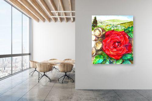 תמונה למשרד - חיה וייט - ורד אדום - מק''ט: 285559