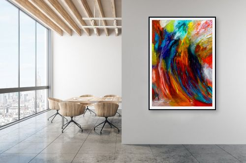 תמונה למשרד - אסתר חן-ברזילי - סימפוניה בצבעים - מק''ט: 286351