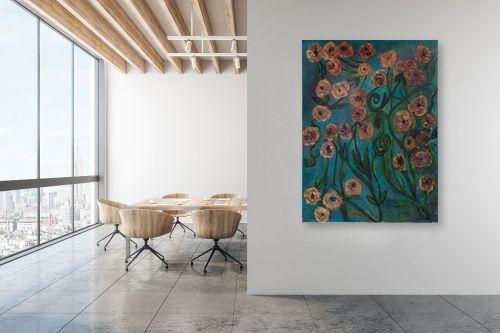 תמונה למשרד - אסתר חן-ברזילי - פרחי זהב - מק''ט: 306124