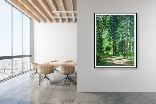 תמונה למשרד - נריה ספיר - בוקר ביער - מק''ט: 313492