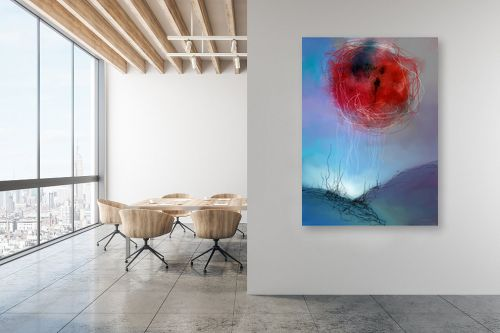 תמונה למשרד - גורדון - ירח אדום - מק''ט: 319435