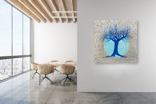 תמונה למשרד - חני שפר - עץ ולבנה - מק''ט: 325519