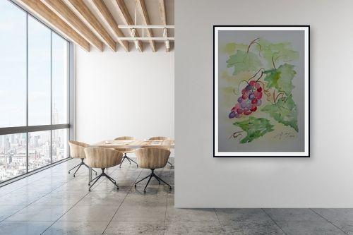 תמונה למשרד - רינה יניב - אשכול ענבים - מק''ט: 327827