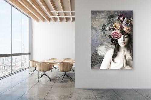 תמונה למשרד - בתיה שגיא - מלאכית הפרחים - מק''ט: 328882