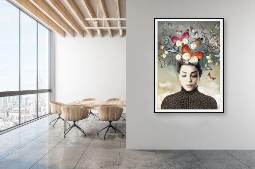 תמונה למשרד - בתיה שגיא - פרפרים בראש - מק''ט: 328887