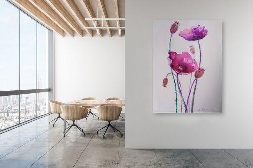 תמונה למשרד - נטליה ברברניק - פרחים סגולים - מק''ט: 330588