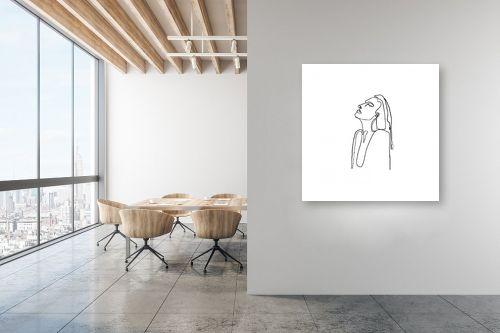תמונה למשרד - Artpicked - דמות בקו אחד - מק''ט: 331108