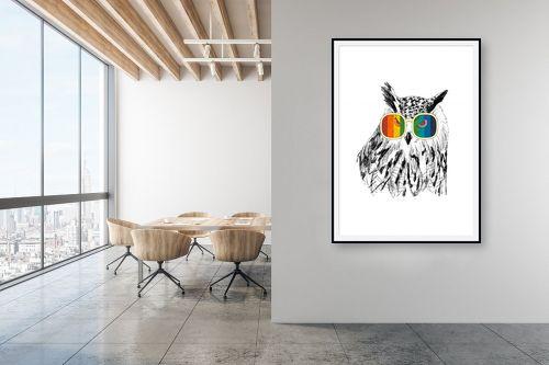 תמונה למשרד - Artpicked - ינשוף במשקפיים - מק''ט: 331740