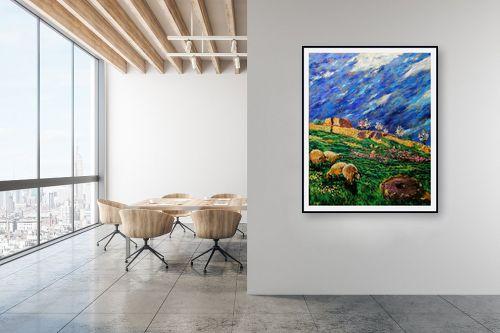תמונה למשרד - שמואל מושניק - הר חברון בסוף החורף - מק''ט: 332076