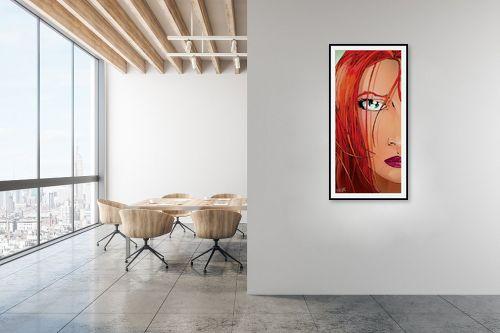 תמונה למשרד - חנן אביסף - Red Face - מק''ט: 51782