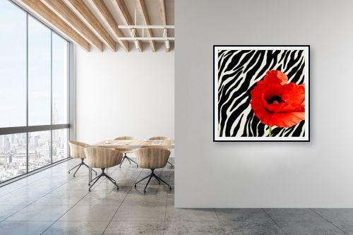 תמונה למשרד - בתיה שגיא - אדום-שחור-לבן - מק''ט: 70616
