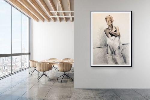 תמונה למשרד - דוד סלע - רקדנית בסטודיו - מק''ט: 96674