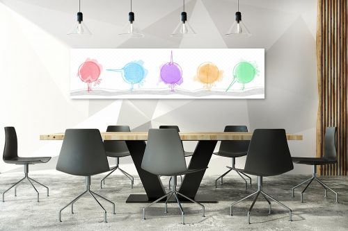 תמונה לחדר ישיבות - נעמי עיצובים - סידרת ציפורים - מק''ט: 160377