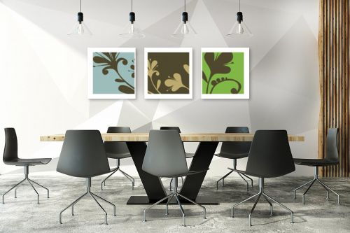 תמונה לחדר ישיבות - נעמי עיצובים - שלישיית עשבים - מק''ט: 160931