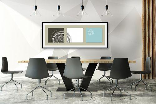 תמונה לחדר ישיבות - נעמי עיצובים - עיגולים 3 - מק''ט: 163527