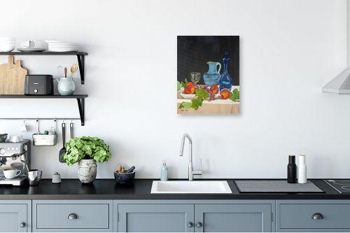 תמונה למטבח - נריה ספיר - טבע דומם עם פירות - מק''ט: 313495
