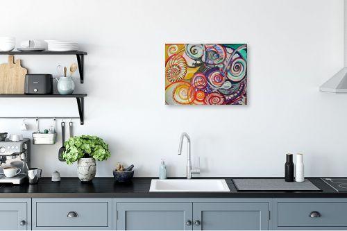 תמונה למטבח - אילה ארויו - אבסטרקט מערבולות צבע צבע - מק''ט: 318519