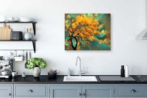 תמונה למטבח - Artpicked - שלכת דיגיטלית - מק''ט: 330376