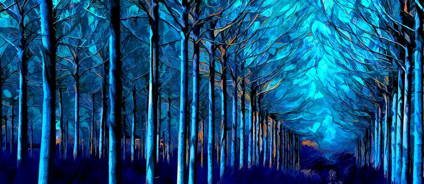 גלריית תמונות צבע כחול