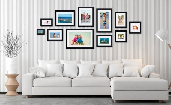 קיר משפחה (גלריה) דגם 107- סט מדהים של 11 תמונות ממוסגרות בסגנון קלאסי