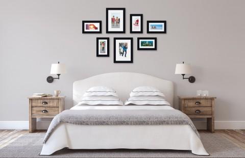 קיר משפחה - סט דגם 103 - 7 תמונות ממוסגרות בהתאמה אישית