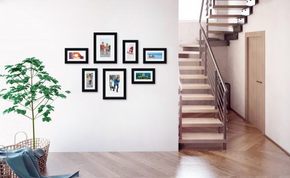 קיר משפחה (גלריה) דגם 103- סט מדהים של 7 תמונות ממוסגרות בסגנון קלאסי