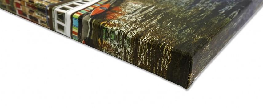 הדפסה על קנבס בסגנון עיטוף גלריה