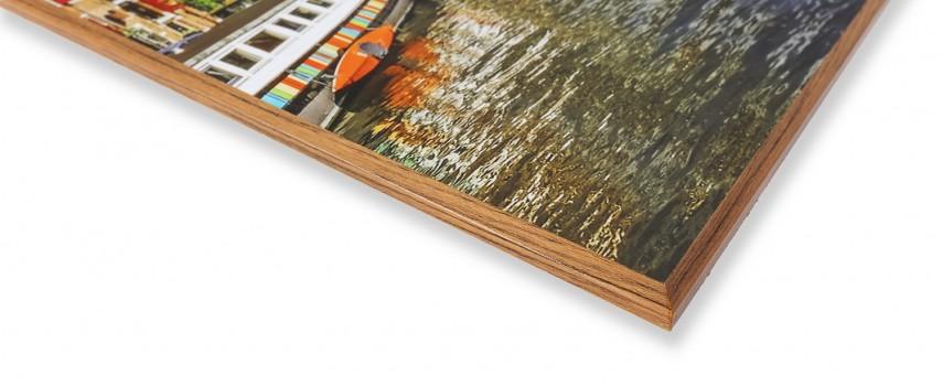 הדפסה על עץ עם גימור משופע