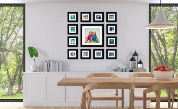 סט קיר משפחה דגם 102 - 15 תמונות