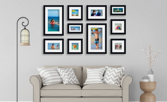סט קיר משפחה דגם 110 - 10 תמונות