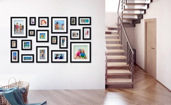 קיר משפחה (גלריה) דגם 111- סט מדהים של 19 תמונות ממוסגרות בסגנון קלאסי