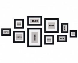 סט קיר משפחה 10 תמונות דגם 104
