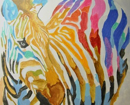 אבסטרקט בצבעי מים