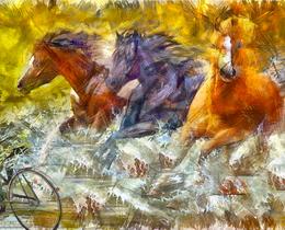 מדבקות קיר סוסים