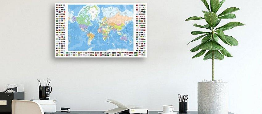 מפת העולם לקיר
