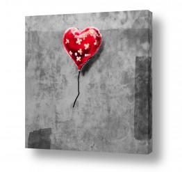 תמונות לפי נושאים בלונים | Heart Balloon