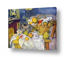 טבע דומם סלסלת פירות | Paul Cezanne 018